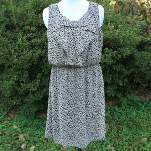 AB Studio Leopard Print Sleeveless Dress L